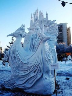 Amazing Snow Sculptures.
