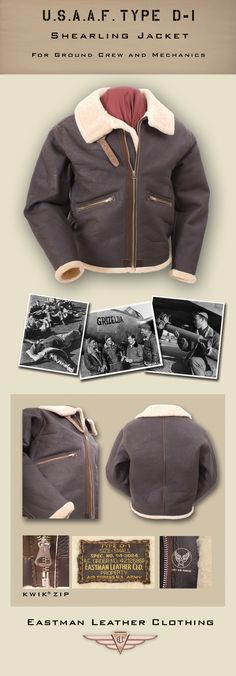 Eastman Leather Clothing - US Flight Jackets : USAAF Eastman Sheepskin Jackets : Elcd1