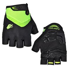 FIRELION Road Bike Gloves Half Finger Cycling Gloves Unisex Mountain Bike Bicycle Gloves,Green,Large  #Bicycle #Bike #Cycling #Finger #Firelion #Gloves #GlovesGreenLarge #Half #Mountain #Road #Unisex CyclingDuds.com