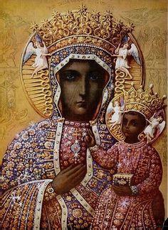 La Virgen Negra de Czestochowa, patrona de Polonia, muy querida por el papa polaco Juan Pablo II