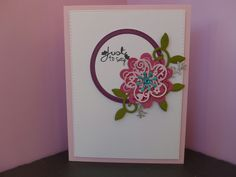 Card made using X-cut filigree layered flower dies for Die-Cutting Essentials commission