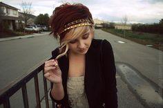 Auburn hair and blonde bangs | tumblr_l9w6976Q8o1qa2gm6o1_400