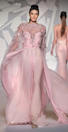Abed Mahfouz Fall Winter Haute Couture 2012 Collection - pink evening gown  Pink Wedding Dresses c4b8d61942ce
