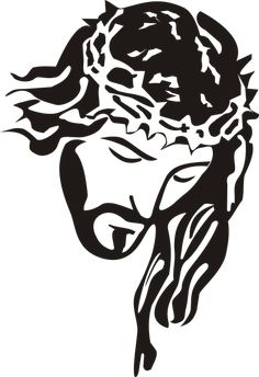 Jesus Christ - Stencil Clip Art PNG - stencil, art, big cats, black, black and white Jesus Drawings, Jesus Tattoo, Jesus Painting, Jesus Art, God Jesus, Jesus Christ Drawing, Scroll Saw Patterns, Silhouette Art, Stencil Art