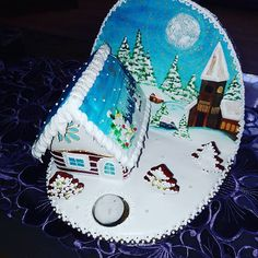 #artfood #art  #medovniky #med #honeycake #honey #medovník #pernicky #pernik #gingerbread #pain #painting #cook #colors #color #christmastime #christmas #sneh #vianoce #church #winters #winter #krajina #country #paint #painting