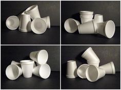 Art in the Middle...school: Not So Plain White Cups. 11/20/14. What a great idea to help kids with shading!