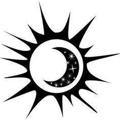 Design With Vinyl Sun and Moon Figure Wall Decal Sun And Moon Drawings, Sun Drawing, Filipino Tattoos, Moon Tattoo Designs, Sun Tattoos, Wrist Tattoos For Women, Sun Moon Stars, Wood Burning Patterns, Sun Art