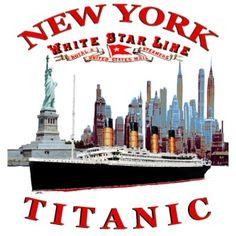 TITANIC NEW YORK 1624 STAR LINE LOUIS RUNEMBERG - T-shirt Premium Ado   TITANIC SPIRIT Rms Titanic, Sweat Shirt, New York, New Star, Fruit Of The Loom, Yorkie, Line, Spirit, Stars