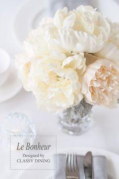 Le Bonheur floral line. Table sttings(ル・ボヌール フローラルライン) ウェディングの テーブルコーディネートにも♡: