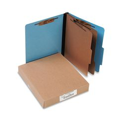 Acco ColorLife Presstex Classification Folders Letter 6-Section Light 10/Box