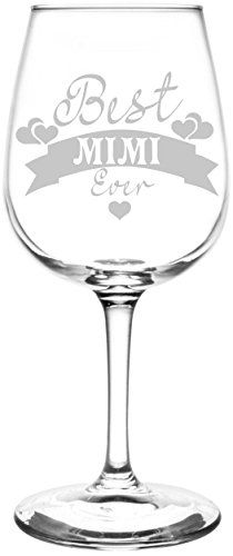Personalized  Custom Mimi Hearts  Banner Best Ever Celebration Inspired  Laser Engraved 1275oz Libbey AllPurpose Wine Taster Glass -- Find out more about the great product at the image link. Note:It is Affiliate Link to Amazon.