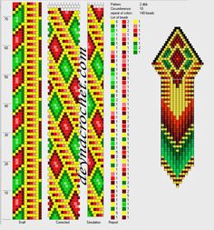 Bead crochet pattern, 10 around Bead Crochet Patterns, Bead Crochet Rope, Crochet Bracelet, Beaded Jewelry Patterns, Peyote Patterns, Beading Patterns, Beaded Crochet, Seed Bead Projects, Beaded Crafts