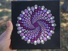 Dot Mandala Glow in the Dark Trippy Art by LaBellaArtigiana