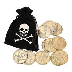 Pirate Bags with Gold Coins - OrientalTrading.com