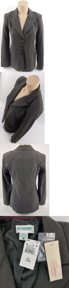 4b7af81309964 Suits and Suit Separates 108898: Motherhood Maternity Jacket Womens Small  Gray Blazer Career Office New