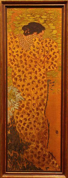 Pierre BONNARD, Le peignoir, vers 1890. Musee D'Orsay. Paint on fabric.