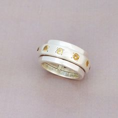 DOUBLE ROUND CITRIN RING