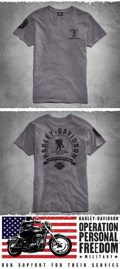 Show your support. | Harley-Davidson Men's Grey Wounded Warrior Project Te