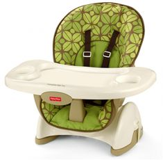 Fisher Price Spacesaver High Chair Of Rainforest Friends Booster Seats In  Kitchen And Dining Chairs For Eating On Table
