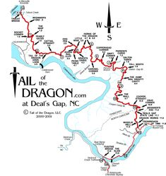Hwy 129 - The Dragon - 118 mountain curves in 11 miles