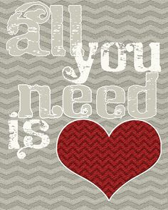 Free all you need is love printable from O.Ink Design Studio