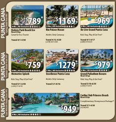 Punta Cana Vacation Specials with Air from Atlanta 6 nights all-inclusive vacations W/non-stop air from Atlanta from $969 Kids stay, play and eat free  travel dates vary For Details Contact http://taylormadetravel.agentarc.com  taylormadetravel142@gmail.com  call 828-475-6227
