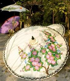 Beautiful painted parasol