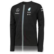 Mercedes AMG Petronas 2015 Replica Long Sleeve T-Shirt - Black b84a3bf2b60