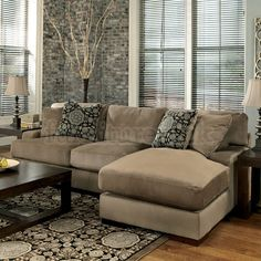 Grenada - Mocha Right Chaise Small Sectional
