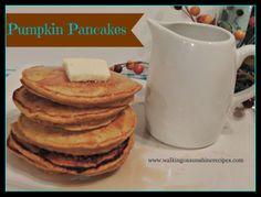 Walking on Sunshine Recipes:  Pumpkin Pancakes