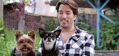 Property Brothers' Jonathan Scott with his dogs, Gracie and Stewie