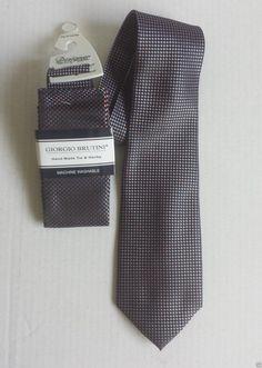 Giorgio Brutini men neck #tie with pocket square SET NWT visit our ebay store at  http://stores.ebay.com/esquirestore
