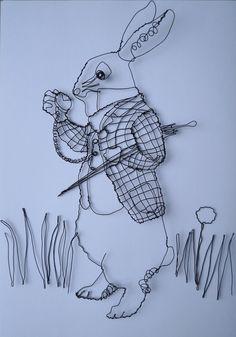 Wire rabbit from Alice in Wonderland