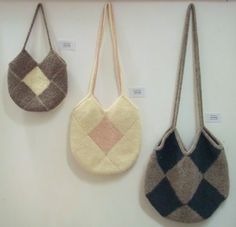 Knitted and Felted Bags - Joan, Jenny and Mary