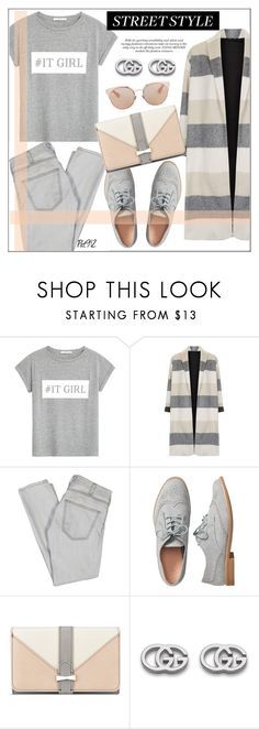 """""""#It Girl - Street Style"""" by pat912 ❤ liked on Polyvore featuring MANGO, Topshop, Current/Elliott, Gap, Nine West, Gucci, Christian Dior, it, polyvoreeditorial and applepicking"""