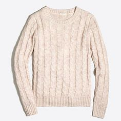 J.Crew+Factory+-+Space-dyed+cable+crewneck+sweater