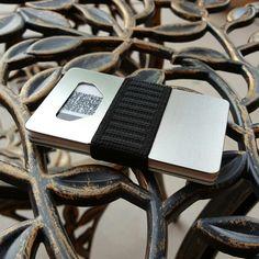 Titanium SPINE wallet at www.spinewallet.com Metal wallet, slim wallet, minimalist wallet, men's wallet