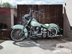 Harley davidson heritage bike lowrider HD Wallpaper