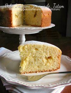 Torta soffice con crema al limone   ricetta senza burro
