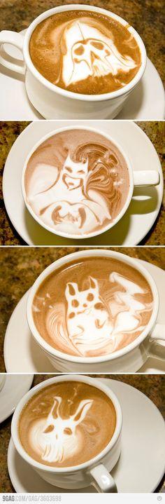 Aquí sirven el café como sea y soy adicto, no me imagino verlo así...