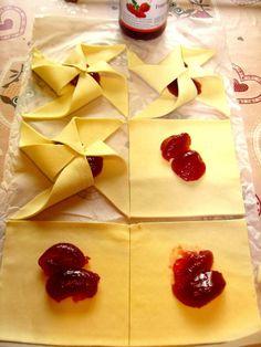 Girelle di Pasta Sfoglia con Marmellata