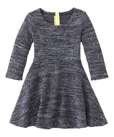 Love this Back Marled A-Line Dress - Toddler & Girls on #zulily! #zulilyfinds