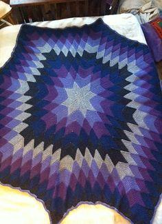 Ravelry: Project Gallery for Starburst Entrelac Afghan pattern by Megan Granholm