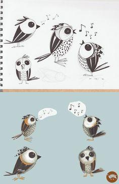 1,2,3,4, little birds by jmsf-co