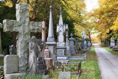 Victorian Graves in Ireland Wood, Leeds England. Multitude and variety of epitaphs are truly works of art.   Photo: tj Blackwell