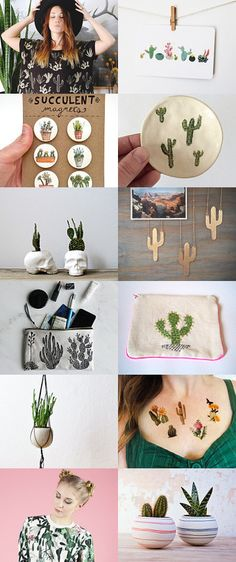 Cactus collection by Gabrielle Jégo on Etsy--Pinned with TreasuryPin.com