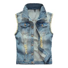 Check current price Plus Size Men's Denim Vest Men Sleeveless Jacket Cowboy 2017 Brand New 5XL 6XL Washed Jeans Casual Tank Top  Man Waistcoat YN748 just only $18.99 - 20.99 with free shipping worldwide  #jacketscoatsformen Plese click on picture to see our special price for you