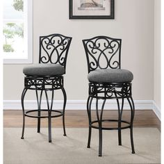 Beautiful Chase 24 Inch Swivel Counter Stools Set Of 2