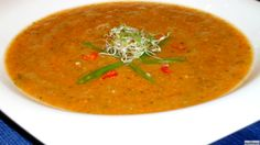 Turmeric, Carrots, Sprouts  Tomatoes - Raw Living Soup - Full of Real Healthy Nutrients And Made In A Blender In Minutes. Can Be slightly warmed up if needed -