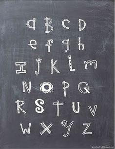 Giggle and Print: Chalkboard ABC Printable.. .FREE!